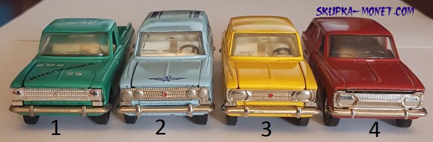 Виды решеток радиатора и фар на моделях Москвич 408, 412, 426, 427, 433, 434.